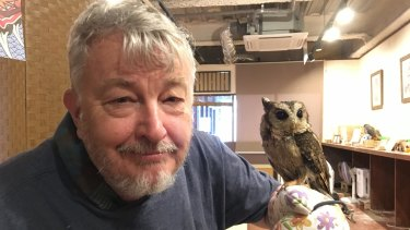 John Elder with a feathered friend.
