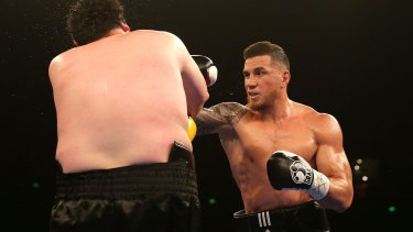 Sonny Bill Williams during his last fight, against Chauncy Welliver in 2015.