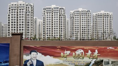 There are developments completed across China with few residents.
