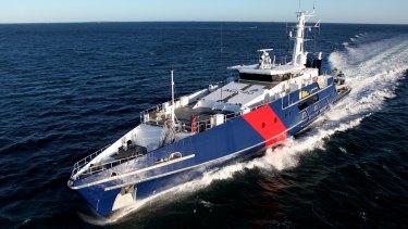 An Australian Border Force Cape class patrol boat.