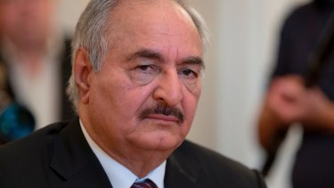 Libyan militia commander General Khalifa Haftar.
