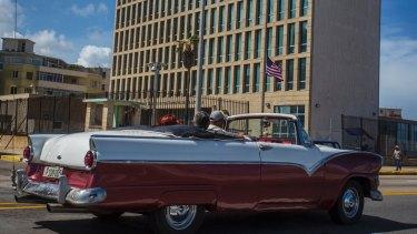 The United States embassy in Havana, Cuba.