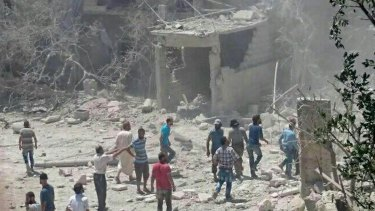 A maternity hospital in  Idlib in northern Syria after it was bombed in 2016.