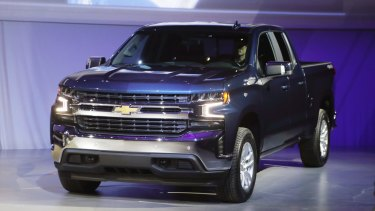 Two Chevrolet Silverados were lost overboard when YM Efficiency hit bad weather.