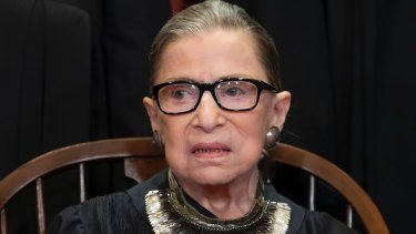 Justice Ruth Bader Ginsburg is one of three women on the US Supreme Court.