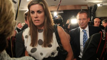Tony Abbott and his then chief of staff Peta Credlin in 2012.