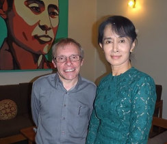 Sean Turnell with Aung San Suu Kyi.