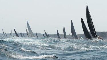 Scallywag and Comanche are neck and neck for the second day of the Sydney to Hobart.