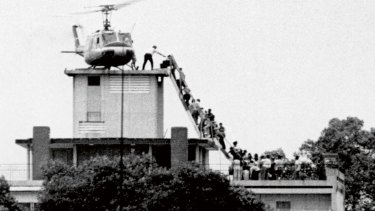 Humiliating exit: the US embassy in Saigon on April 29, 1975.