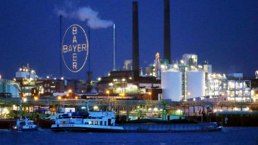 Bayer shares slumped on the news.