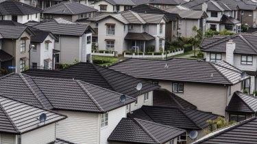 Houses in the suburb of Mount Wellington in Auckland, New Zealand.