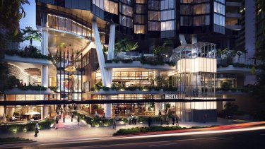 A $325 million five-star international hotel is also planned for Brisbane's Mary Lane.