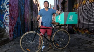 Deliveroo founder William Shu. The company's shares ended the day down 26 per cent from their offer price, after falling as much as a third in early trading.