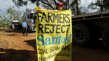 Protesters have engaged in a long-running camp opposing the proposed Santos Narrabri gas project in northern NSW.