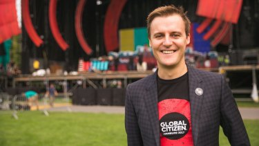Global Citizen chief executive, Australian humanitarian Hugh Evans.