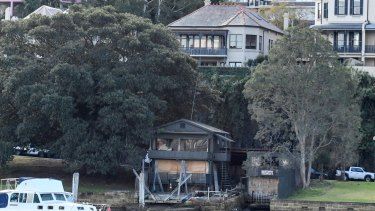 The rundown boatshed at McMahons Point.