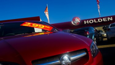Holden cars on sale as the parent company pulls up stumps.