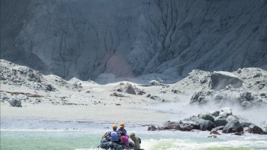 The White Island Tour operators rescue people from the island during the eruption.