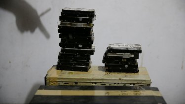 Computer hard drives gathered as part of a 2017 investigation in the Philippines into online child abuse.