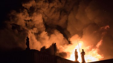 How much did we care? Flames engulf the 200-year-old National Museum of Brazil in Rio de Janeiro last September.