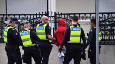 Police detained then released a man in relation to anti-lockdown protests in Dandenong last week.