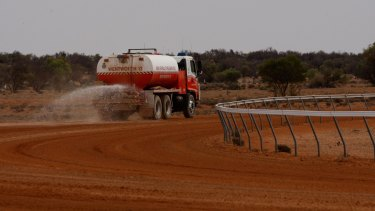 Wentworth Shire Council trucked water into Pooncarie in October to ensure its annual race meet could go ahead.
