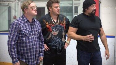 The cast of Canadian comedy Trailer Park Boys.