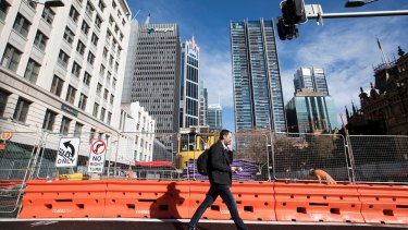 The light rail project has caused major disruption to businesses and residents.