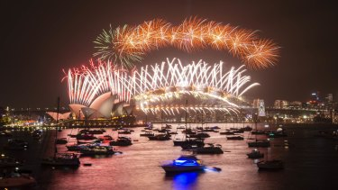 """""""Everyone should presume they're watching the fireworks from home this year,"""" Gladys Berejiklian said."""
