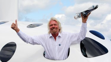 """Richard Branson plans to blast into orbit to evaluate the """"private astronaut experience""""."""