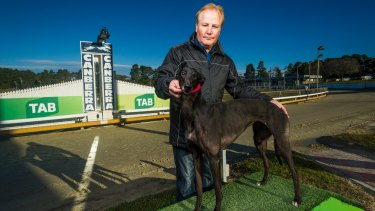 Canberra Greyhound Racing Club Chairman Alan Tutt.