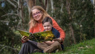 Aunty Joy Murphy with grandson Tate.