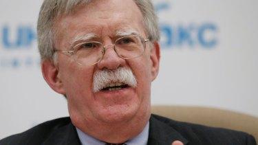 US National security adviser John Bolton.