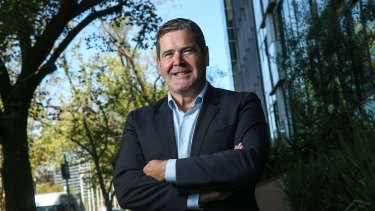 CEO of Healthscope Gordon Ballantyne in April last year.