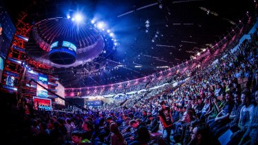 Big show: Despite big crowds in person for major events, most esports viewing occurs online.