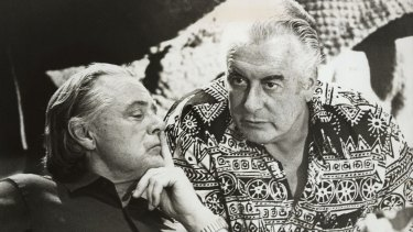 Then prime minister Gough Whitlam, right, and his treasurer, Jim Cairns, in 1975.