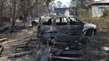 The huge bushfire damaged homes on the Bells Line of Road in the Blue Mountains.