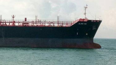 A tanker ship.