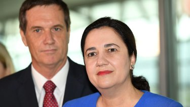 Energy Minister Anthony Lynham with Premier Annastacia Palaszczuk.