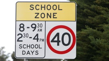 Data shows drivers in NSW are not slowing down around school zones.