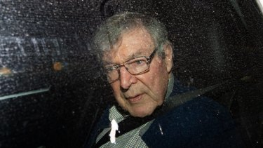 Freed: Cardinal George Pell after his acquittal by the High Court.
