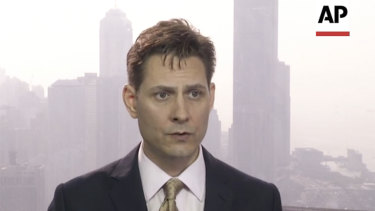 Michael Kovrig, an adviser with the International Crisis Group, a Brussels-based non-governmental organisation, speaks during an interview in Hong Kong in March.