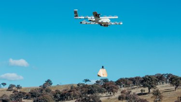 Drones being tested at Fernleigh Park.