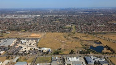 Aerial view of part of Epping in Whittlesea showing it's growth.
