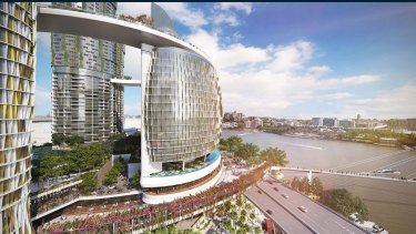 Artist impression of the Queen's Wharf development.