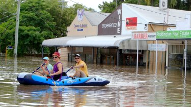 The Brisbane suburb of Rosalie during the 2011 flood.