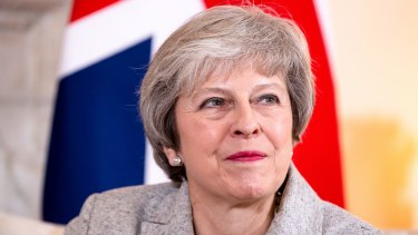 Theresa May, UK prime minister.