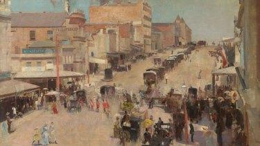 Tom Roberts' Allegro con brio: Bourke Street west  c.1885-86, reworked 1890