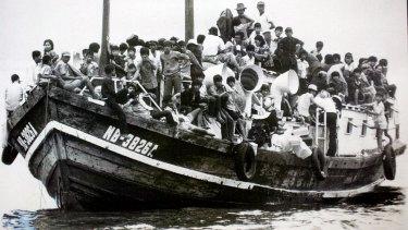 Liberal prime minister Malcolm Fraser welcomed Vietnamese refugees into Australia.