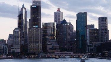 AMP buildings at Circular Quay in Sydney.